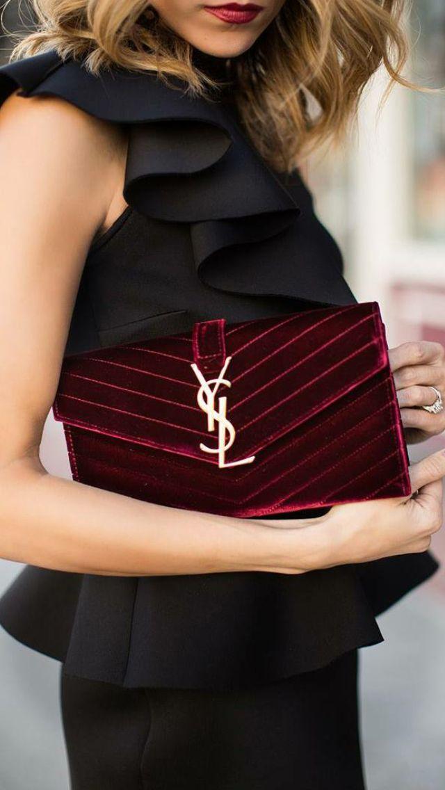 YSL. I love that top. So pretty and feminine.