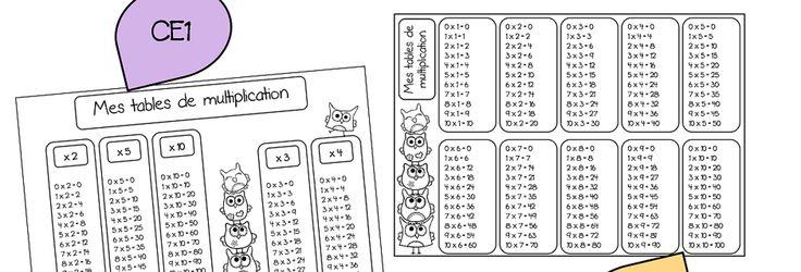 Math matiques mes tables de multiplication ce1 et ce2 for Apprendre multiplication ce2