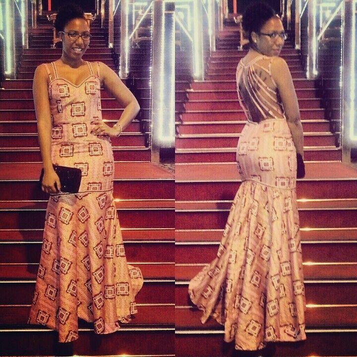 Evening dress   Ankara/African Prom Dress Ideas   Pinterest