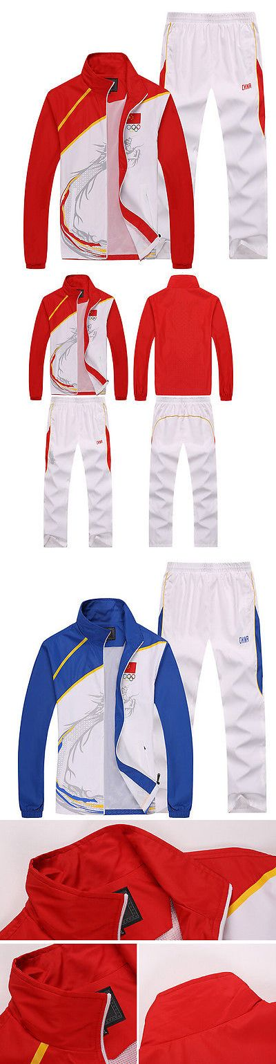 Other Racquet Sport Clothing 70903: 2015 Chinese Team Sportswear Embroidery Flag Mens Clothing Jacket Caots+ Pants BUY IT NOW ONLY: $41.39
