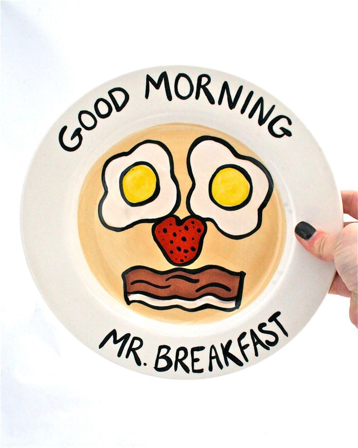 Pancake, Eggs and Bacon Silly Face Breakfast Plate by Mugoos on Etsy https://www.etsy.com/listing/181554394/pancake-eggs-and-bacon-silly-face