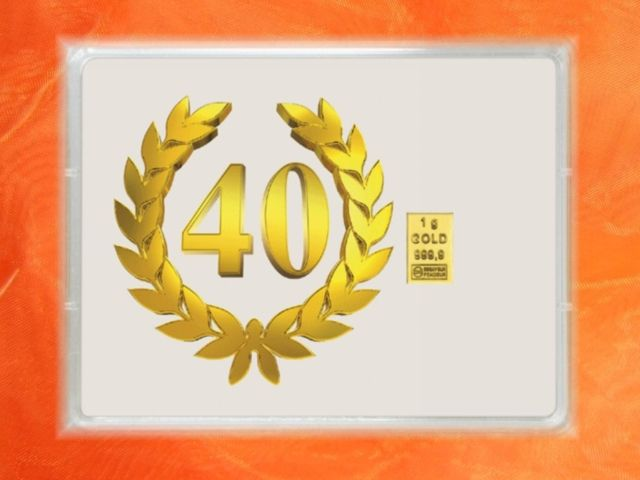 1g Gold zum 40. Geburtstag