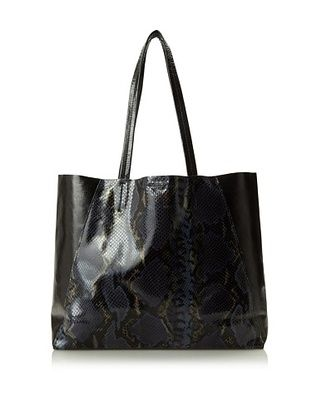 62% OFF Streets Ahead Women's Classic Small Tote Bag, Midnight Python/Licorice Black