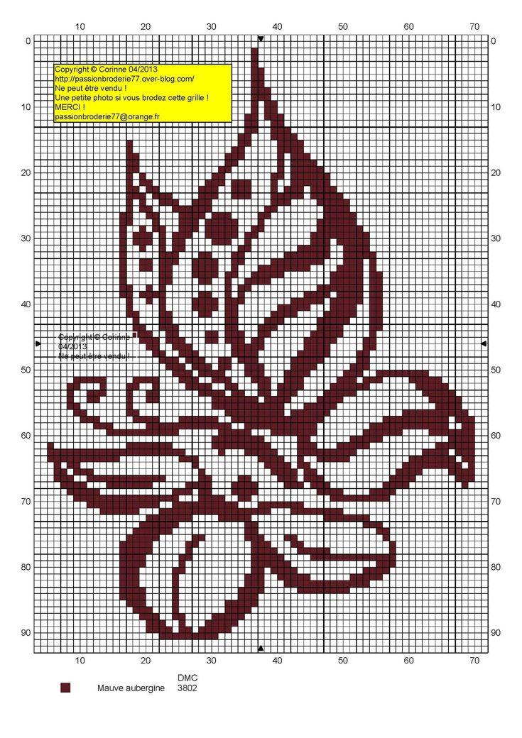 Papillon fleur contours