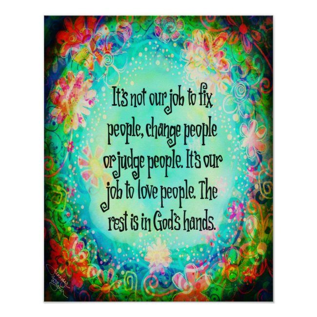 Leave It To God Inspirivity Poster Zazzle Com In 2021 Inspirational Quotes For Kids Love People Daily Inspiration Quotes