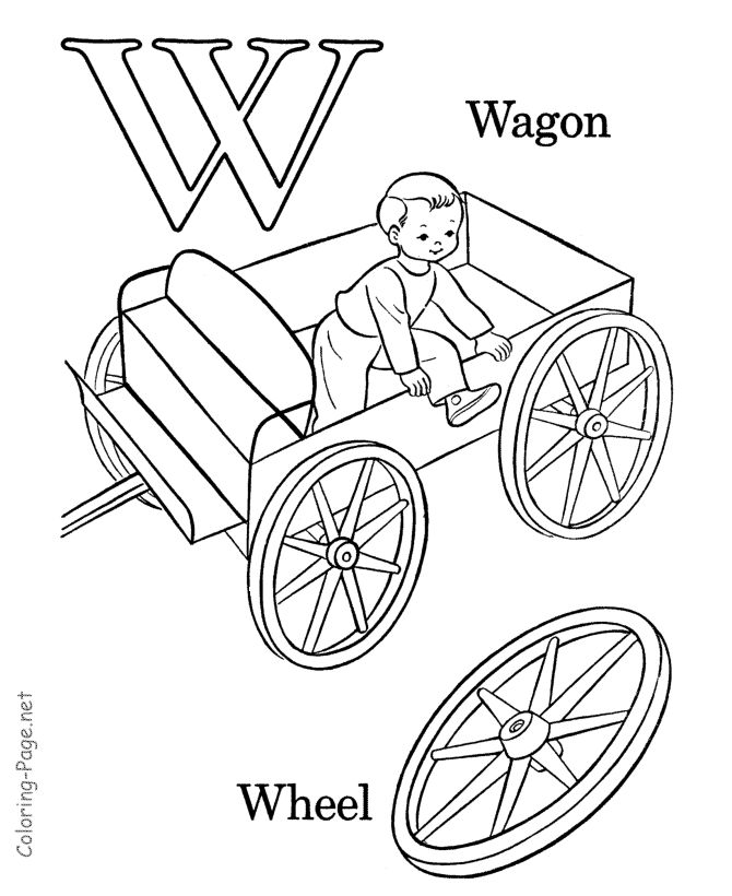 preschool coloring pages letter w - photo#36