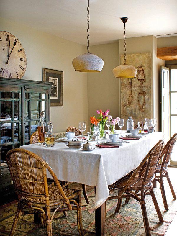 A mesa puesta comedores decorados con estilo mesas - Decorar comedor rustico ...