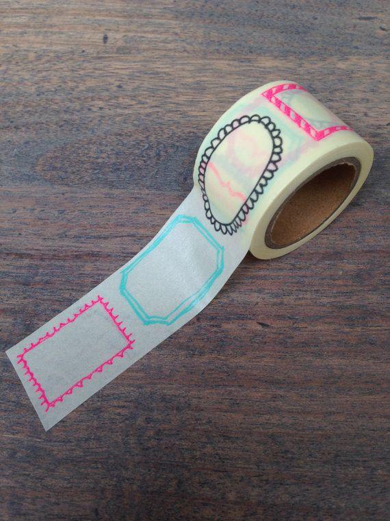Label washi tape W04 by LadyendeVagehond on Etsy