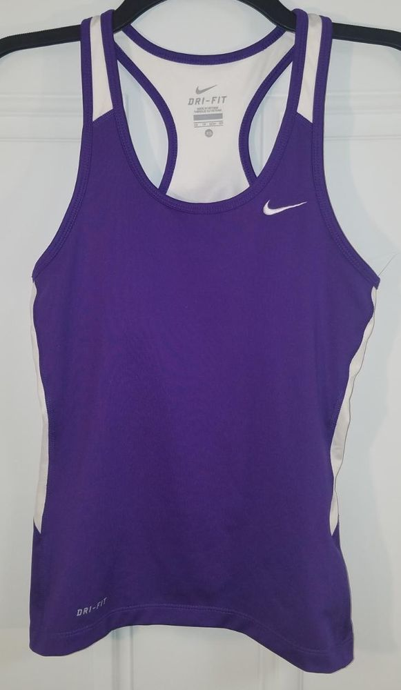 37541c5771e15 NIKE Dri-fit Purple Racerback Sports Tank Top with Built-in Bra Women s XS   fashion  clothing  shoes  accessories  womensclothing  activewear (ebay  link)