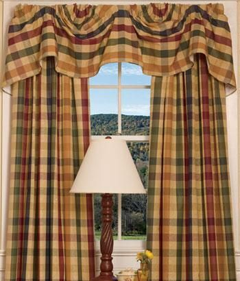 Moire Plaid Lined Austrian Valance · Country CurtainsDoor CurtainsLace  CurtainsCurtain ValancesKitchen CurtainsCurtain ...