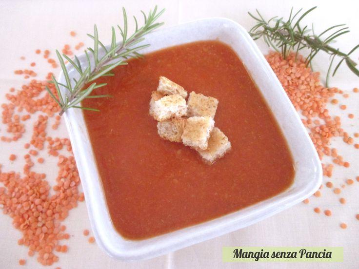Passato di lenticchie rosse vegan