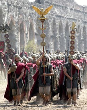 The legions were not allowed into Rome itself, except during parades celebrating a great victory. Only the personal guards of the emperor, known as the Praetorian Guard, were allowed in the city limits.