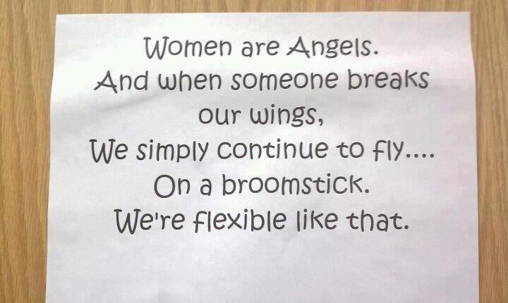 Women are flexible...