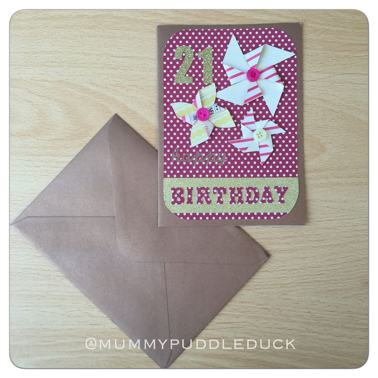 #Handmade #pinwheel #tbirthday card for Mummypuddleduck #MakeitMay project which brings a new card design every day and where 10% of all sales throughout may are #donated to #ParkinsonsUK #Cricut