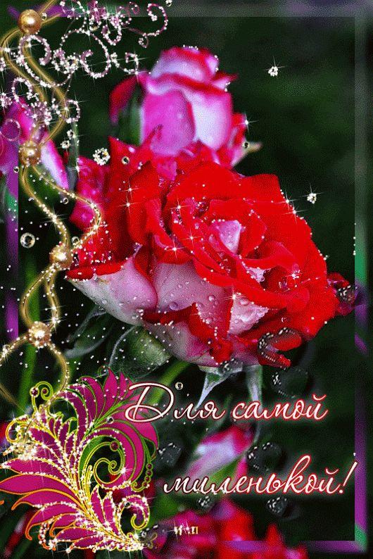 Самая красивая открытка с цветами анимация с именем вита