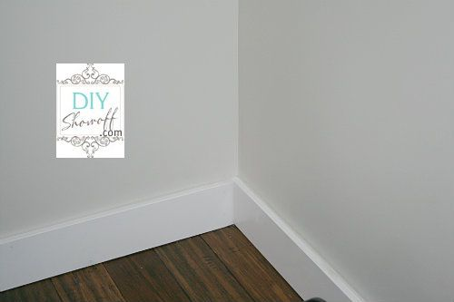 Easy baseboards (no mitered cuts)
