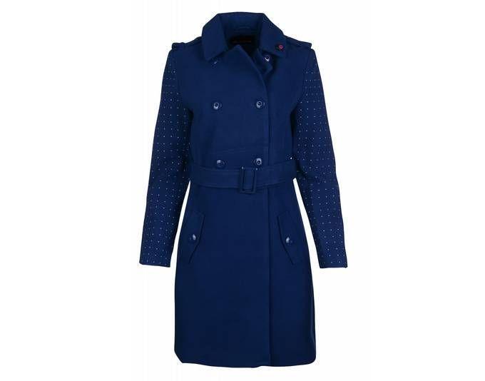 Wintermantel damen blau