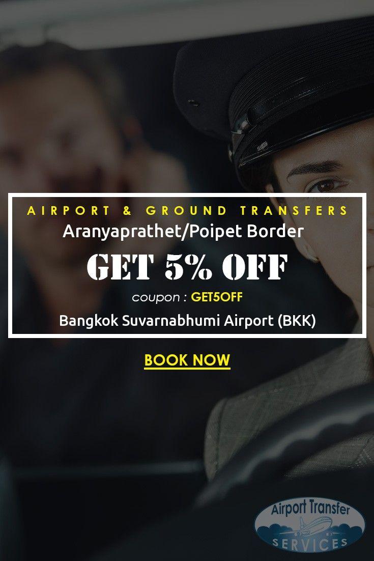 Transfers from Bangkok Suvarnabhumi Airport (BKK) to… #BangkokAirport #BangkokAirporttransfers #AranyaprathetPoipetBorder