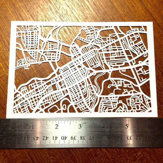 Paper cut map of Ottawa ON 4x6 by CUTdesignsrt on Etsy