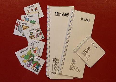 Bildstöd skapat specifikt för förskoleverksamhet med lite roligare bilder för att locka barnets intresse.