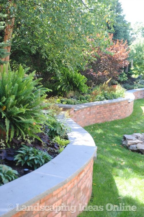 Water Garden For Retaining Ring : A serpentine wall made of brick retaining walls gallery