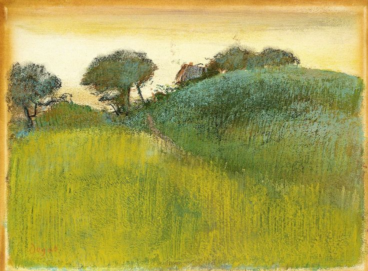 Wheat Field and Green Hill,c. 1890-1892Edgar Degas
