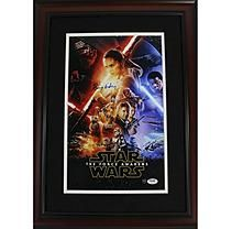 Daisy Ridley Signed Star Wars VII: The Force Awakens 10x16 Full Cast Movie Poster