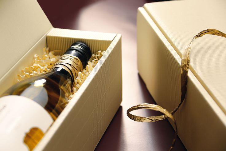 Geschenkverpackung aus Offener Welle für Wein-, Sekt-, und Mischpräsente