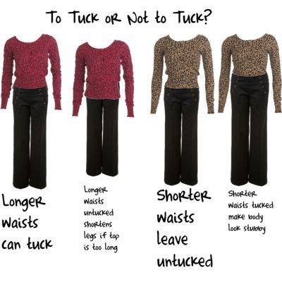 kledingregels voor lang en kort bovenlichaam