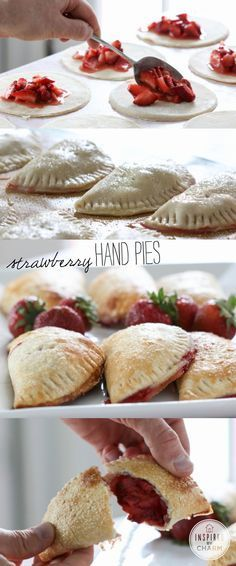 Strawberry Hand Pies // so easy & luscious for desserts, gifts, brunch and special lunch box treats