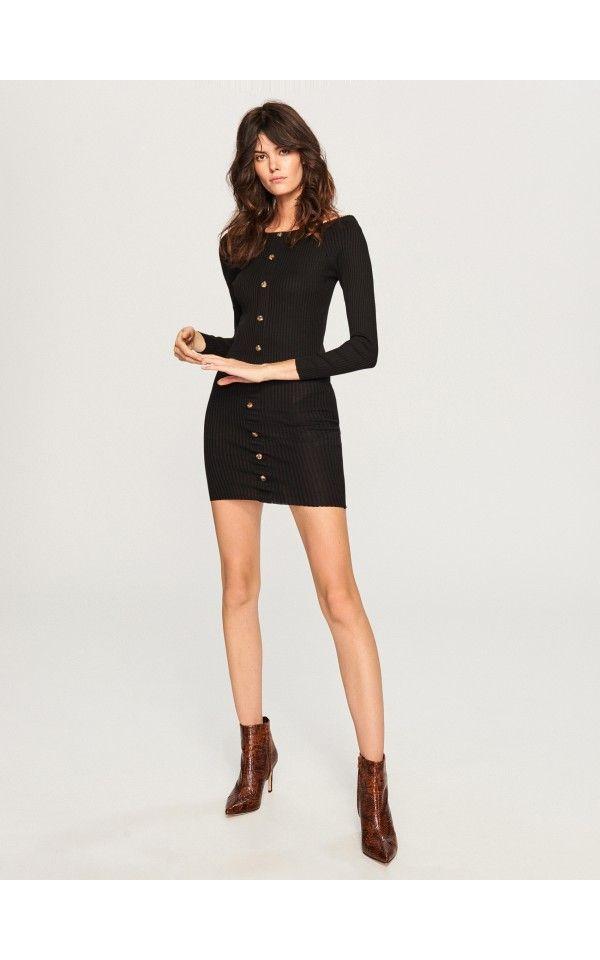 a0ef83ed8e Dzianinowa sukienka mini