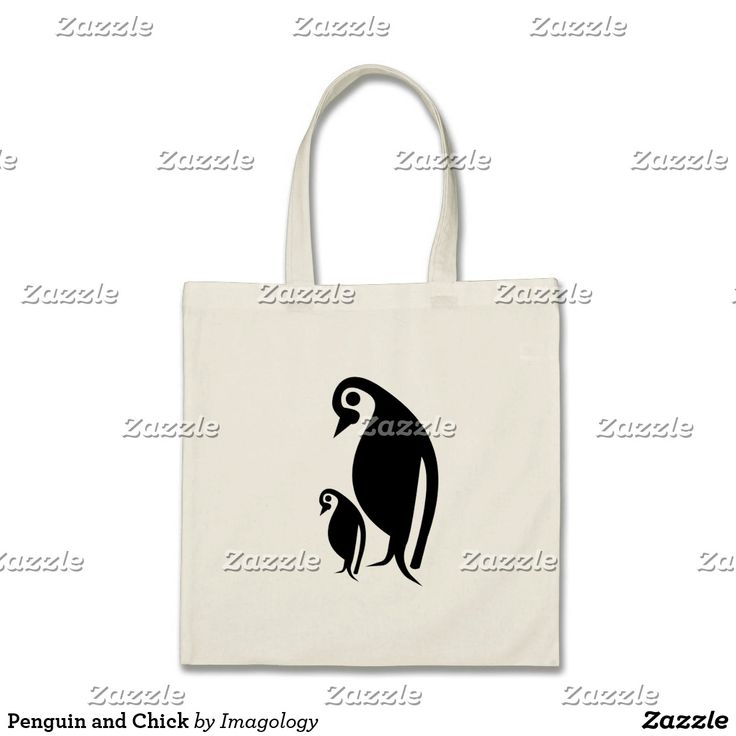 Penguin and Chick Tote Bag