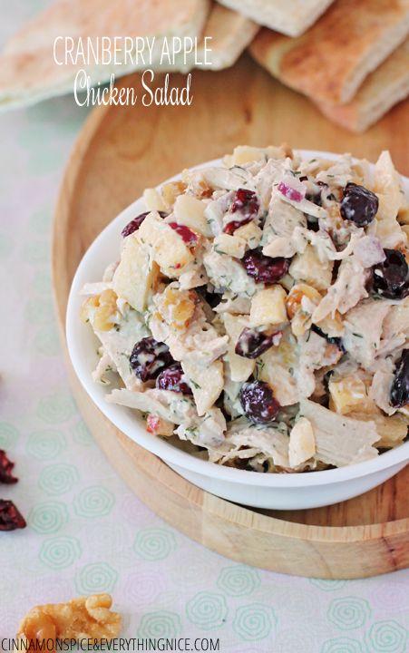 Cranberry Apple Walnut Chicken Salad