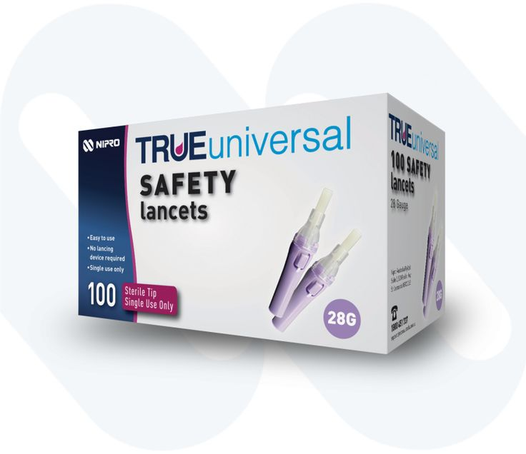 TRUEuniversal safety lancets are perfect for when you are travelling! Simply twist off the cap for quick and easy blood sugar testing. After the test is complete, the needle automatically retracts and locks!