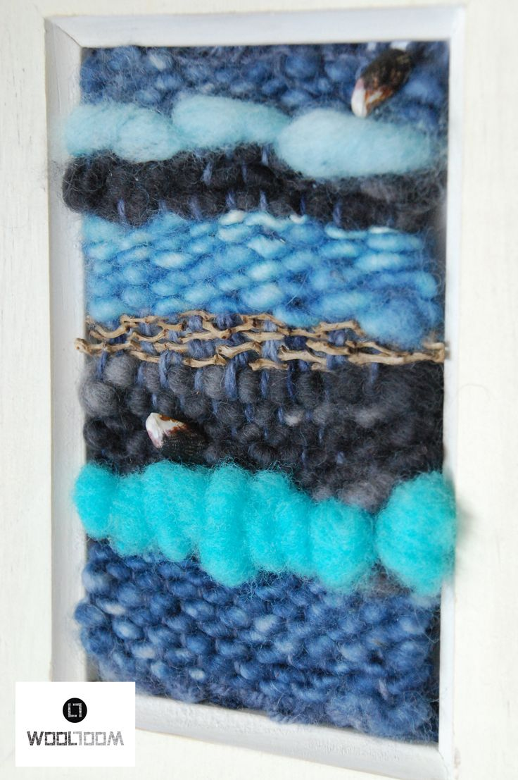 Ocean - Hand woven wall hanging // weaving // telar decorativo made by WooL LooM - www.facebook.com/WooLLooM