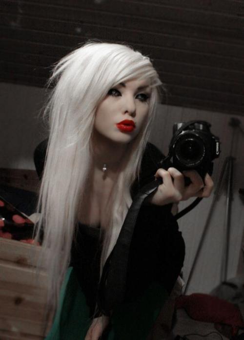 Platinum scene hair
