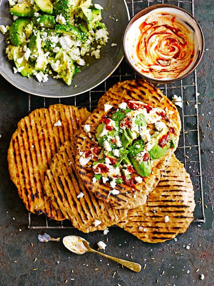 592 best jamie oliver images on pinterest jamie oliver cooking quick flatbreads with avocado feta forumfinder Images