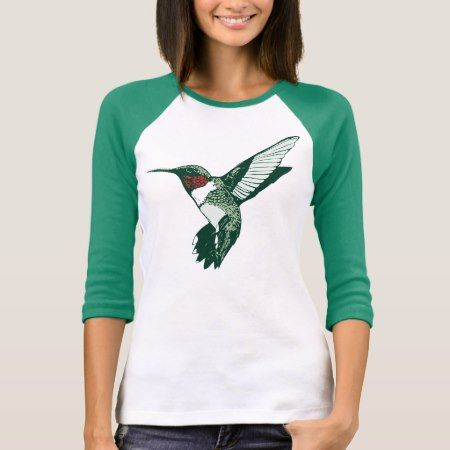Cartoon Ruby Throated Hummingbird T-Shirt - click/tap to personalize and buy