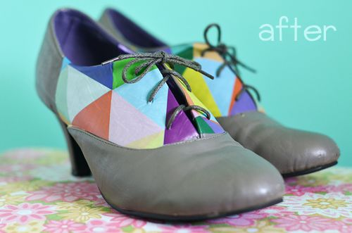 So cute!  Stickers for shoes.: Diy Shoes, Diy Fashion, Diy Clothing, Diy Misc