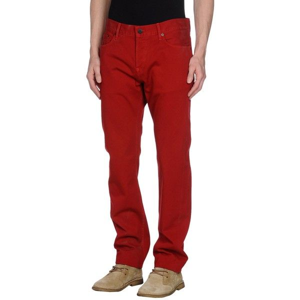 Horiyoshi The Thiiird Casual Pants ($35) ❤ liked on Polyvore featuring men's fashion, men's clothing, men's pants, men's casual pants, red, mens red chino pants, mens chinos pants, mens chino pants and mens red pants