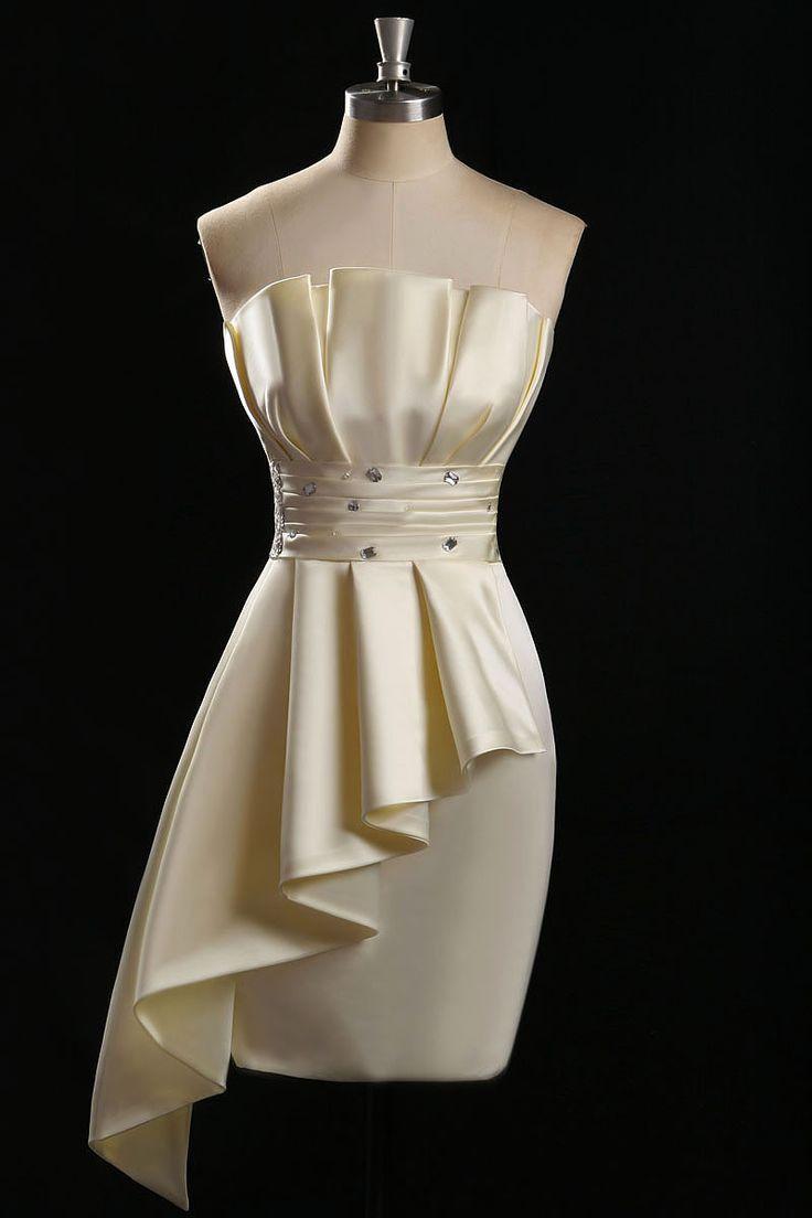 Real Image Ruffles Short Cocktail Dresses Peplum Pleats and Crystal Mini Prom Party Dresses Asymmetcial Dress - http://www.onestopweddingstore.com/products/real-image-ruffles-short-cocktail-dresses-peplum-pleats-and-crystal-mini-prom-party-dresses-asymmetcial-dress/