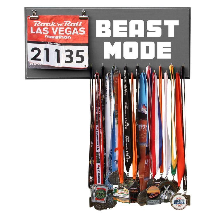 Running Marathon Medal Display, Holder, Hanger - BEAST MODE