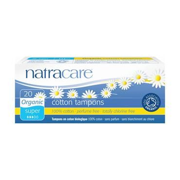 Natracare tampons are all made from only certified organic 100% cotton and were the world's first fully certified organic cotton tampons. They are non-chlorine bleached and women can be reassured that they do not contain synthetic materials, such as rayon, or chemical additives such as binders or surfactants. Certified organic cotton removes the risk of direct exposure to residues from chemical pesticides and fertilisers used on traditional cotton.