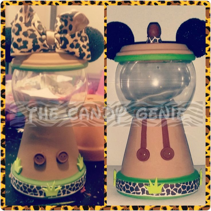 Mickey Minnie Mouse Safari Gumball Machine Centerpieces Candy Jars Party Favors Safari Birthday Party 1st Birthday Baby Shower by TheCandyGenie on Etsy https://www.etsy.com/listing/266184783/mickey-minnie-mouse-safari-gumball