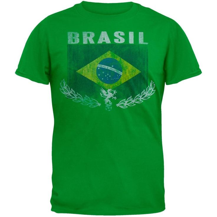 Brasil Vintage Flag Soccer T-Shirt