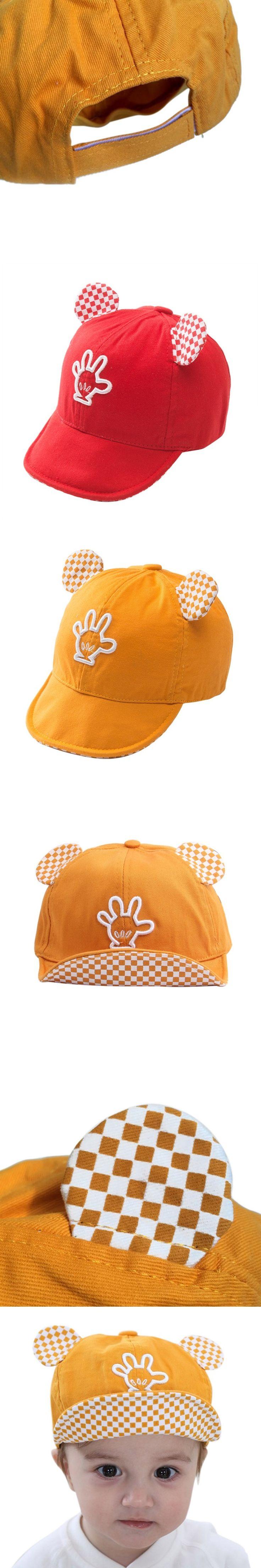 Kids Boys Girls Cotton Hats Caps Bear ear Plaid Print Toddler Caps Summer Beret Sun Visor Hat Cap Accessories