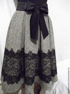 Подборка очень красивых юпок украшенных кружевом. Такая юпка выглядит очень элегантно и оригинально.