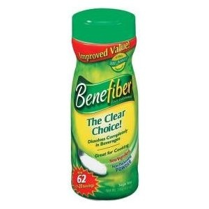 Benefiber: a great way to increase your daily fiber intake; FLAVORLESS!!! just pour a spoonful into your water, coffee, tea or whatever - whenever you think to. My father actually introduced a great idea to me, which is to put this stuff in a salt shaker on the counter and simply shake it on foods to add in fiber in a no-fuss way. Fiber makes you feel fuller faster and has many health benefits including reduction in colon cancer risk. Get some today!!