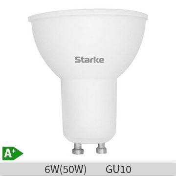 Bec LED Starke Blue forma spot, 6W, GU10, 6500K, lumina rece