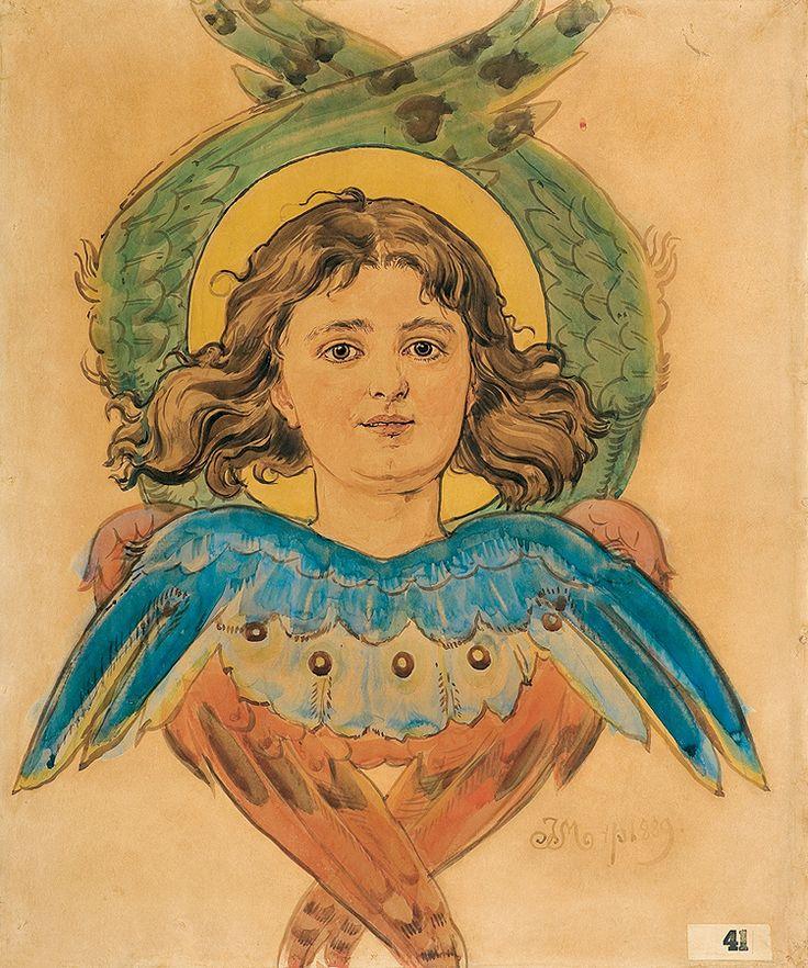 Jan Matejko   CHERUBIN, 1889   akwarela, karton   73 x 61.2 cm